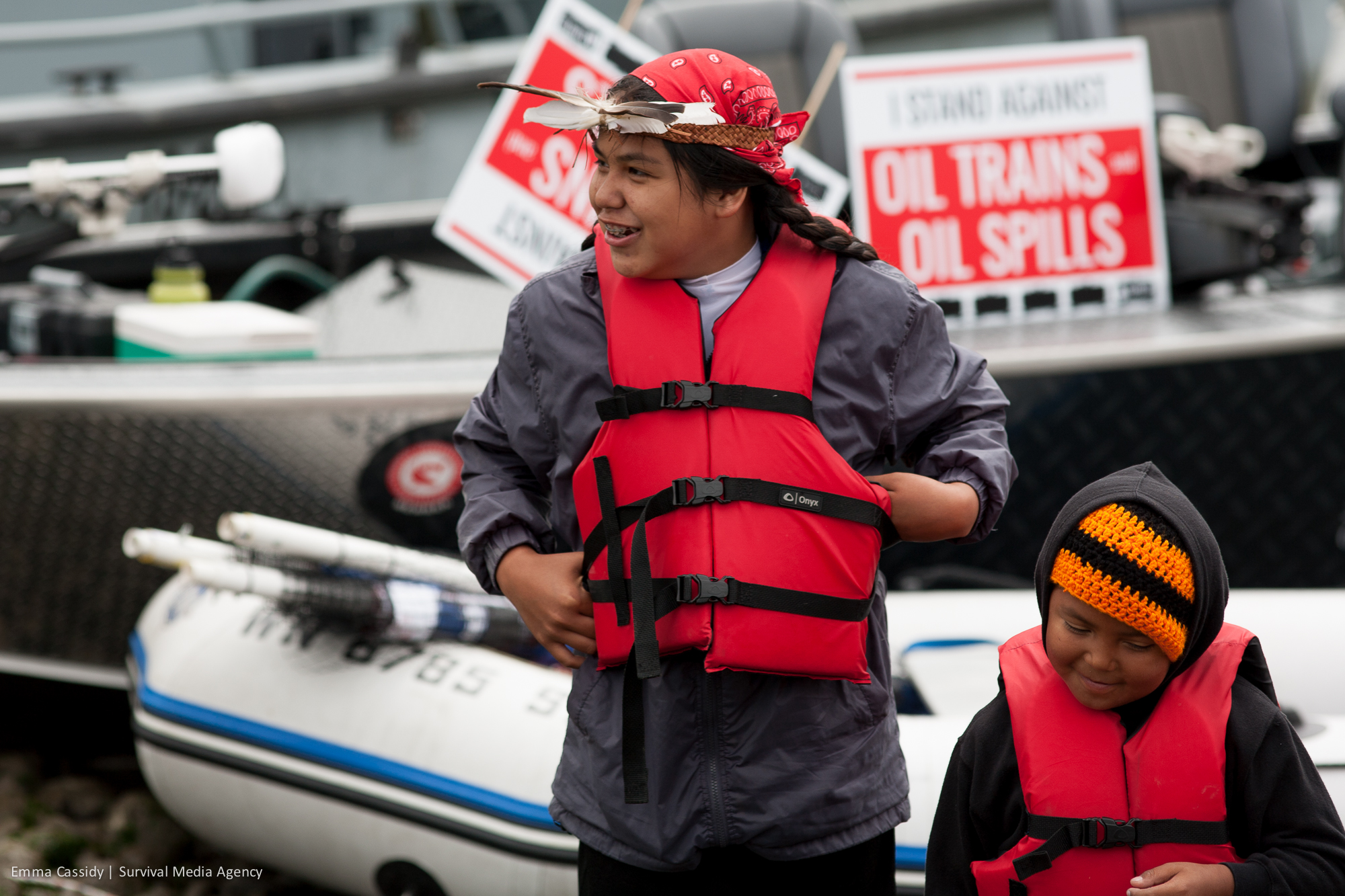 Quinault Indian Nation Protest Crude Oil in Grays Harbor, WA